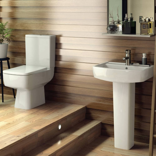 Euro 4 Piece Toilet & Basin Bathroom Suite - 1 Tap Hole